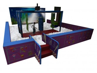 Ball Pit with Interactive Screen and Obstacles