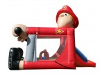 Bouncer Slide Combos, Foot Bouncer Fireman Medium, BE Bounce Houses