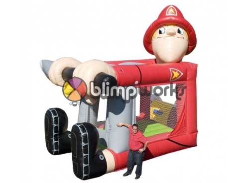 Foot Bouncer Fireman Medium