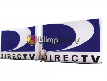 inflatable DirecTV logo