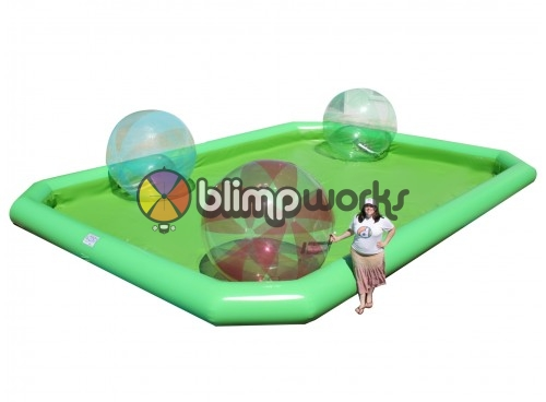 Inflatable water pool & walking balls