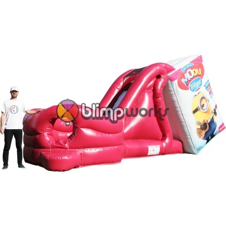 Milk Straberry Inflatable Slide