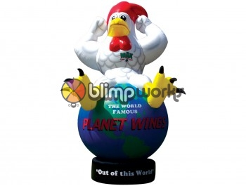 Inflatable Hen on Earth