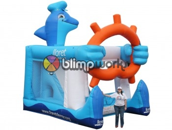 Inflatable Dolphin Foot Bouncer 5in1
