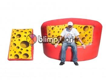 Inflatable Cheese Sofa