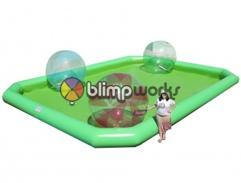Inflatable water pool & walking balls