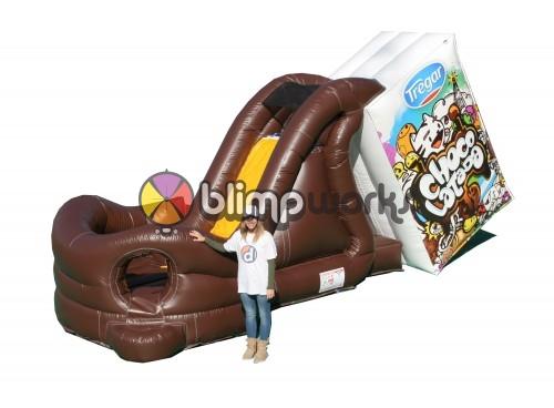 Milk Chocolate Inflatable Slide